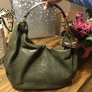 New Jimmy Choo Large Solar Leather Hobo
